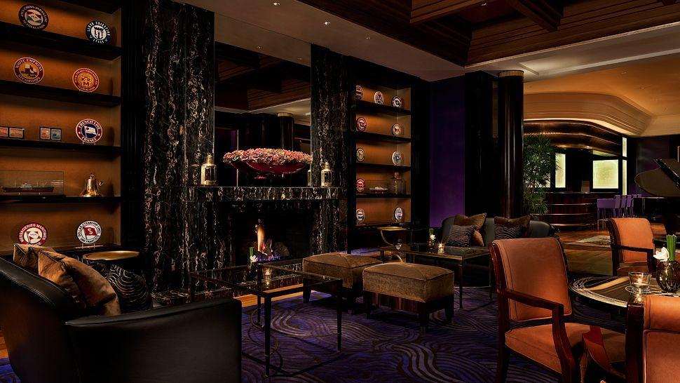 pierre counot blandin meubles compass bar fireplace