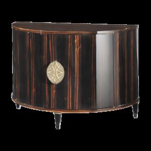 Demi-lune 2 doors cabinet